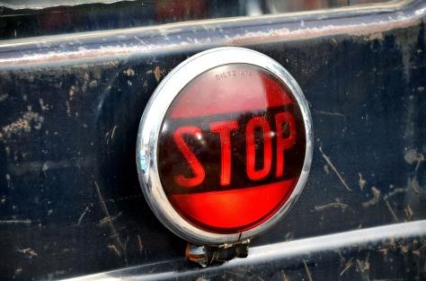 Warning light stop sign
